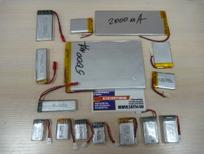 Аккумуляторы LiPo от 120 до 5000мА