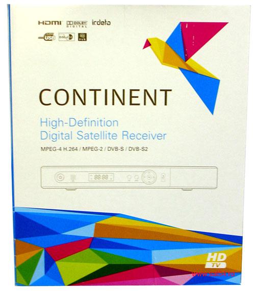 Ресивер Continent CHD-02/IR. Упаковочная коробка.