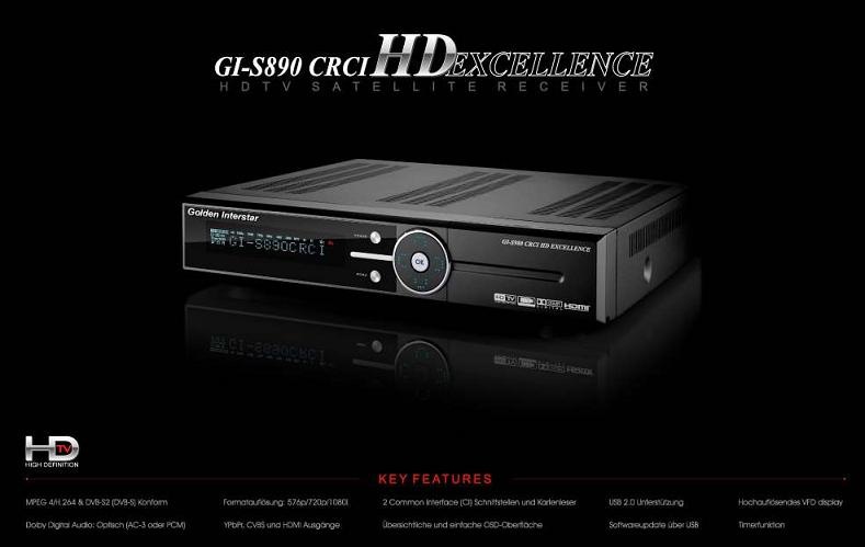 �������� ������� GI-S890 CRCI HD Excellence HDTV, MPEG4, HDMI