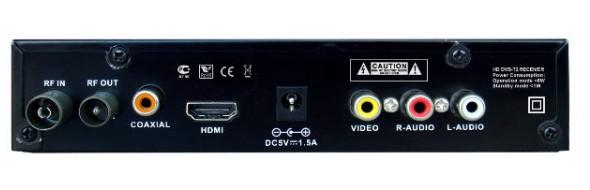 разъемы цифрового эфирного приемника World Vision T40
