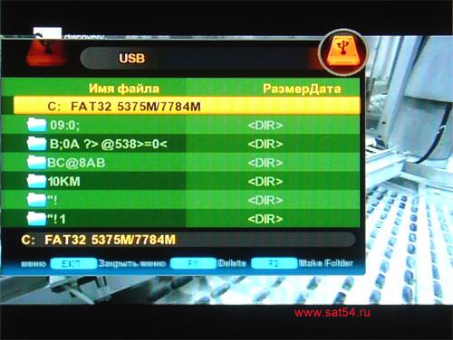 www.sat54.ru Цифровой спутниковый ресивер Golden Interstar S2030. Запись на USB. Чтение каталога.