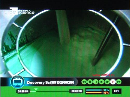 www.sat54.ru Цифровой спутниковый ресивер Golden Interstar S2030. Воспроизведение записанного файла.