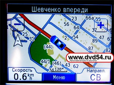 GPS карта Новосибирска  с детализацией для Garmin nuvi 310 - www.dvd54.ru