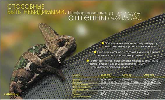 характеристики спутниковой офсетной перфорированной антенны LANS