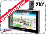 GPS Навигатор + видеорегистратор TEXET TN-525 HD DVR
