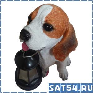 Светильник уличный Собака с фонарем.