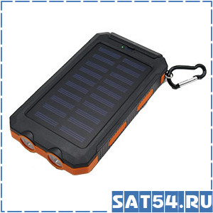 Аккумулятор на солнечной батареи 12000mAh (фонарь)