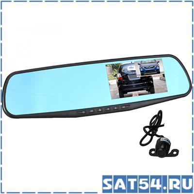Автовидеорегистратор зеркало + камера HAD-74 (TDS TS-CAR13)