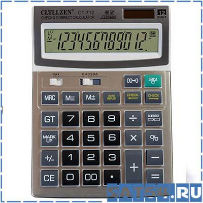 Калькулятор Crtrzen CT-712 (12 разр.) настольный