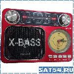 Радиоприемник Meier M-U36 (MP3, Фонарик, Часы, USB, AUX, SD, 220V)