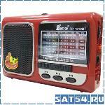 Радиоприемник FEPE FP-1519 (Bluetooth, Фонарик, USB, SD, Аккумулятор)
