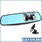 Автовидеорегистратор зеркало + камера HAD-74