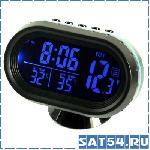 Портативная метеостанция + часы VST-7009V (t салон/улица, будильник, V, 2*LR44, 95х55мм)