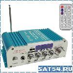 Усилитель звука HY802 (2x20Вт/USB/SD/FM/вход микр 6,3/20Гц-20кГц)