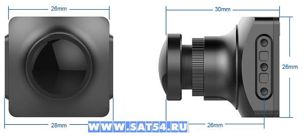 Реальные размеры видеокамер FOXEER . Из  обзора на сайте www.sat54.ru в Новосибирске
